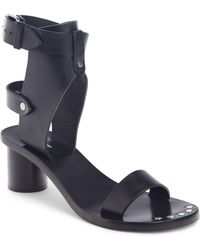 ba869dba015 Lyst - Isabel Marant Jaeryn Studded Wrap Leather Sandals in Black