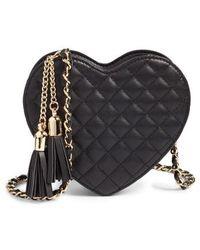 mali + lili - Mali + Lili Quilted Heart Vegan Leather Crossbody Bag - - Lyst