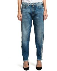 PRPS - Bel Air Distressed Loose Tapered Boyfriend Jeans - Lyst