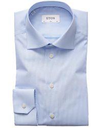 Eton of Sweden   Slim Fit Stripe Dress Shirt   Lyst