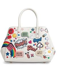 Anya Hindmarch - Ebury - Allover Sticker Leather Tote - - Lyst