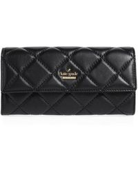 Kate Spade - Emerson Place - Kinsley Quilted Leather Wallet - Lyst