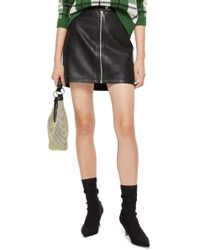 TOPSHOP - Penelope Faux Leather Miniskirt - Lyst