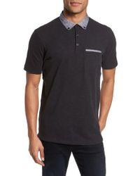 Good Man Brand - Slub Jersey Cotton Polo Shirt - Lyst