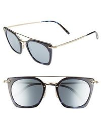 Oliver Peoples - Dacette 50mm Square Aviator Sunglasses - Cobalt - Lyst