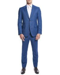 Strong Suit - By Ilaria Urbinati Zooey Slim Fit Plaid Wool Suit (nordstrom Exclusive) - Lyst