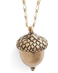 Tory Burch - Short Acorn Necklace - Lyst