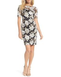 Adrianna Papell - Madelin Embroidered Sheath Dress - Lyst