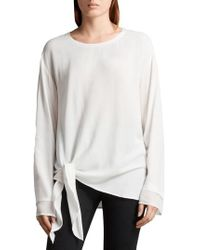 AllSaints - Ricco Side Tie Top - Lyst