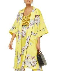 TOPSHOP - Heron Print Kimono - Lyst