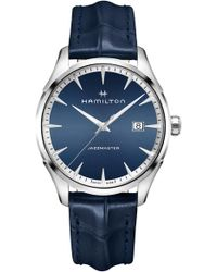 Hamilton - Jazzmaster Gent Leather Strap Watch - Lyst