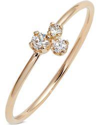 Zoe Chicco - Mixed Diamond Ring - Lyst