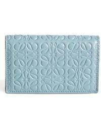 Lyst loewe textured calfskin leather business card holder in blue loewe debossed calfskin leather business card holder lyst colourmoves