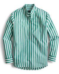 J.Crew Band-collar Popover Tunic In Bold Stripe