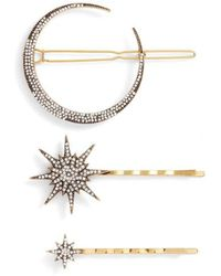 Serefina - Celestial 3-pack Crystal Hair Pin Set, Metallic - Lyst