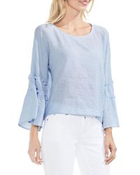 Vince Camuto | Ruffle Sleeve Blouse | Lyst