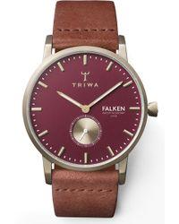 Triwa - Ruby Falken Leather Strap Watch - Lyst