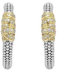 Lagos - Embrace Caviar™ Diamond Hoop Earrings - Lyst