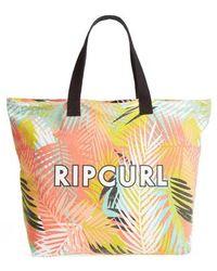 Rip Curl - Miami Vibes Palm Print Beach Tote - Lyst