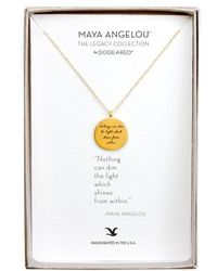 Dogeared - 'legacy Collection - Nothing Can Dim The Light' Pendant Necklace - Lyst