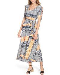Chaus - Patchwork Cutout Sleeve Maxi Dress - Lyst