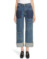 JW Anderson - Shaded Pocket Wide Leg Ankle Jeans - Lyst