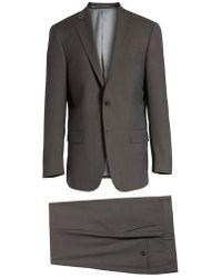 Hart Schaffner Marx   New York Classic Fit Stripe Wool Suit   Lyst