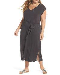 Lucky Brand - Button Sleeve Maxi Dress - Lyst