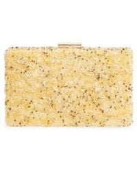 Natasha Couture - Chips Embellished Box Clutch - Lyst