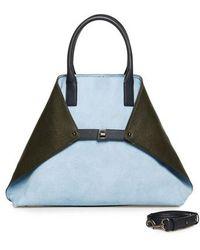 Akris - Medium Ai Bicolor Nubuck & Leather Tote - - Lyst
