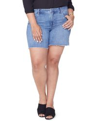 NYDJ - Jenna Frayed Denim Shorts - Lyst