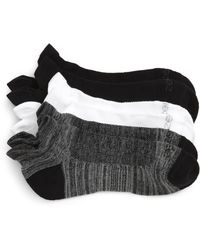 Zella - 3-pack Double Tab Running Socks - Lyst