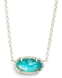 Kendra Scott | Elisa Birthstone Pendant Necklace | Lyst