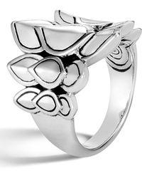 John Hardy - Legends Naga Silver Saddle Ring - Lyst