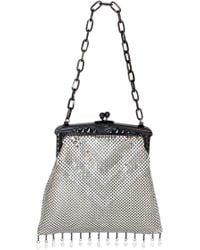 Whiting & Davis - 'Heritage - Deco' Mesh Handbag - Metallic - Lyst