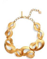 Oscar de la Renta - Twisted Ribbon Collar Necklace - Lyst