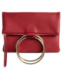 Chelsea28 - Skyler Faux Leather Foldover Clutch - Lyst