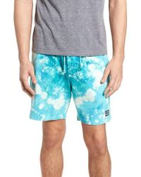 9b0aa23971 Obey - Paloma Bleach Dyed Shorts - Lyst