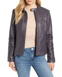 Bernardo - Stitched Leather Jacket - Lyst
