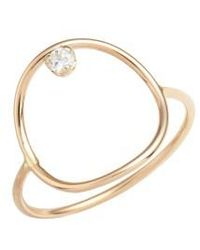 Zoe Chicco | Diamond Circle Ring | Lyst