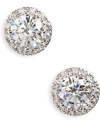 Nordstrom - Pave Round Stud Earrings - Lyst