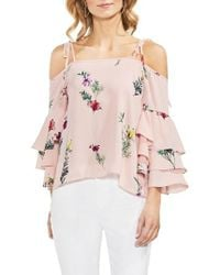 Vince Camuto - Tropical Garden Tie Shoulder Top - Lyst