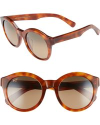 Maui Jim - Jasmine 51mm Polarizedplus2 Round Sunglasses - - Lyst