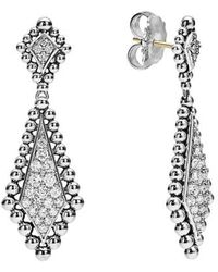 Lagos - Caviar Spark Diamond Drop Earrings - Lyst