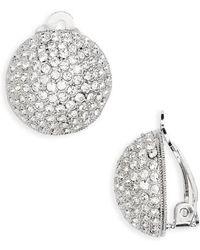 Nina | Clip Crystal Earrings | Lyst