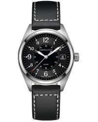 Hamilton - Khaki Field Leather Strap Watch - Lyst