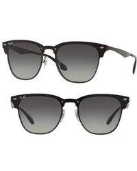 Ray-Ban - Blaze Clubmaster 50mm Sunglasses - Lyst