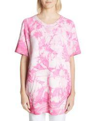 Michael Kors | Tie Dye Short Sleeve Cashmere Sweatshirt | Lyst