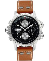 Hamilton - Khaki Aviation X-wind Automatic Chronograph Leather Strap Watch - Lyst