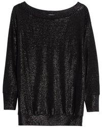 Tracy Reese - Bateau Neck Shimmer Sweatshirt - Lyst